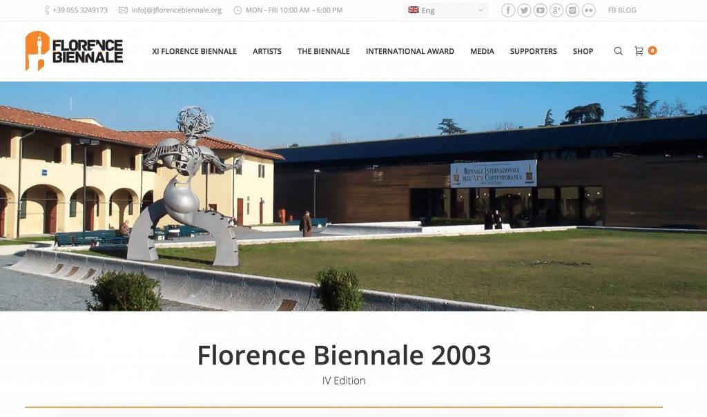 Johnny Jack Hansen udstillede på Florence Biennale i 2003